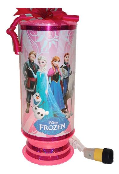 Frozen 10 Centros De Mesa Lamparas 38 Cm Altur Personalizads