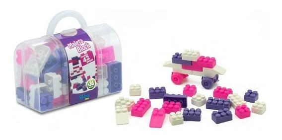 Maleta Block Menina 42 Pçs Simo Toys 285