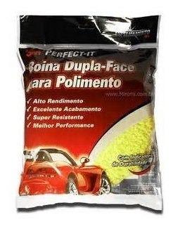 Boina Dupla Face Amarela Macia 3m Para Polimento Automotivo