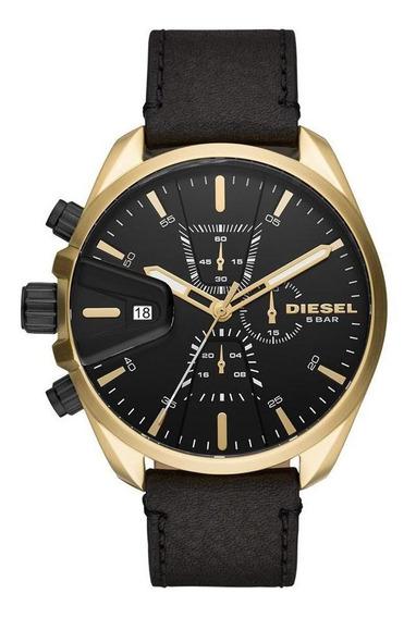 Relógio Diesel Masculino Ms9 Chrono Dourado Dz4516/0pn