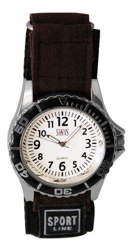 Reloj De Hombre Status Militar Malla De Tela M943g