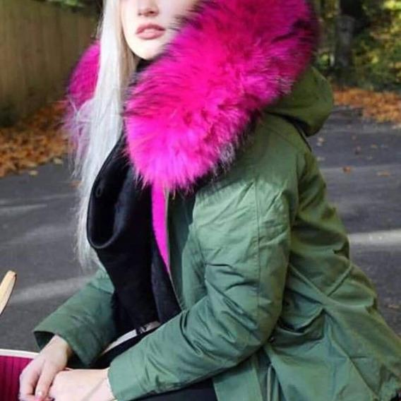 Fur Jacket Azul Marino