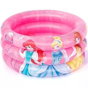 Piscina Infantil Inflável 3 Anéis 38l Princesa + 50 Bolinhas