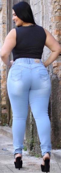 Calça Jeans Feminina Plus Size Com Elastano Lycra