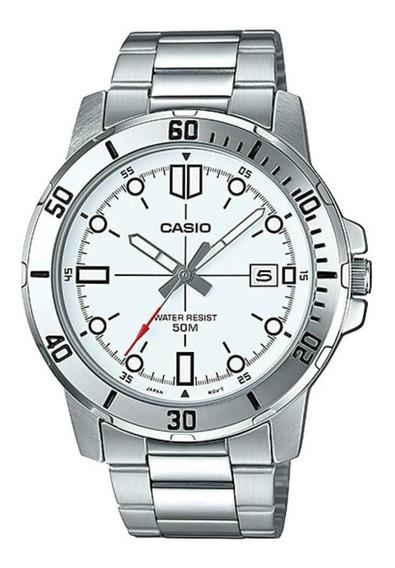 Relógio Masculino Casio Analógico Mtp-vd01d-7e - Prata