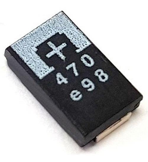 8 Pçs Capacitor Tântalo 470uf 2.5v Reparo Ps3 Ylod 3 Bips
