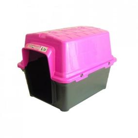 Casinha Para Cachorro Plastica 2 Em 1 N1 Rosa Furacãopet