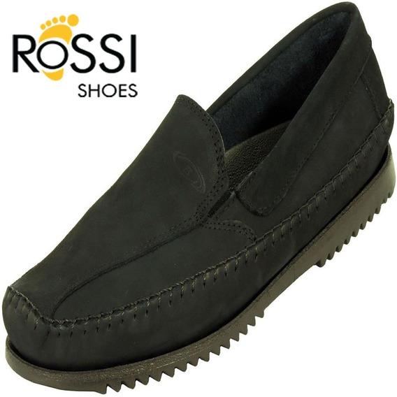 Sapato Mocassim Casual Masculino Exclusivo Preto Bertoni