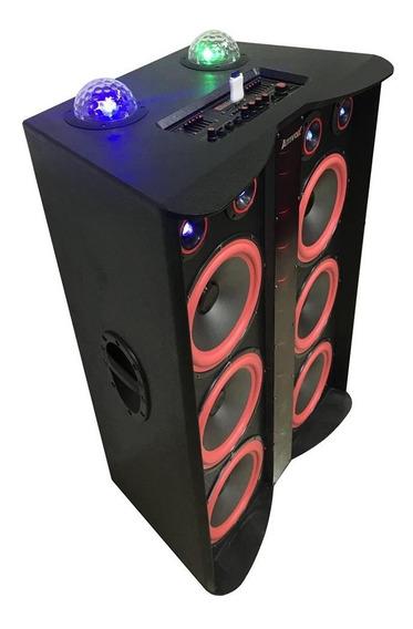 Caixa Amplificada Amvox Aca 3000 Paredão Bluetooth Controle