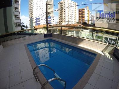 Apartamento Em Praia Grande, 02 Dormitórios Sendo 01 Suite. Prédio Com Piscina Na Aviação Ap1743 - Ap1743