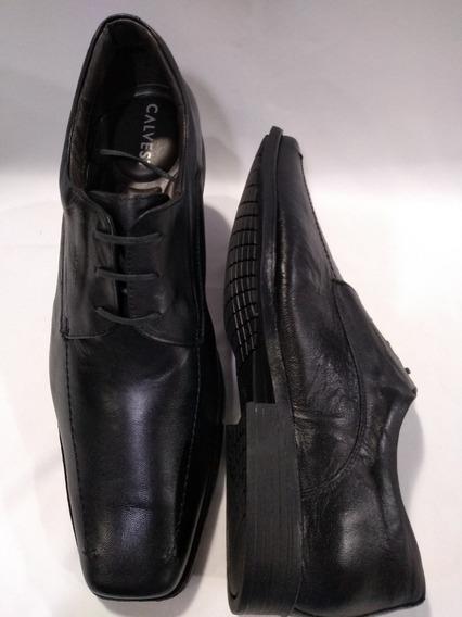 Sapato Masculino Numeros Especiais Preto 800a100