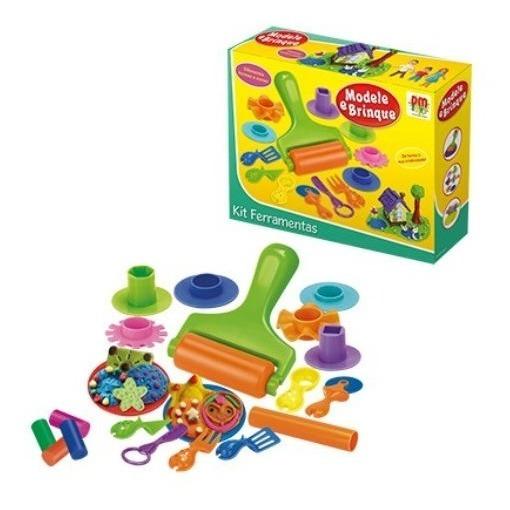 Massinha D Modelar Modele E Brinque Kit Ferramenta Infantil
