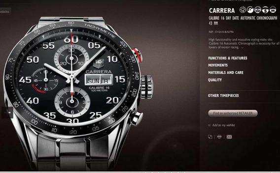 Tag Heuer Carrera Calibre 16 Cv2a10 Ewv4075 Original
