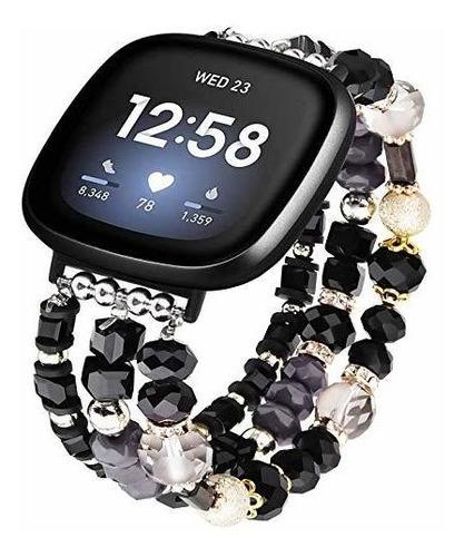 Imagen 1 de 4 de V Moro Pulsera Compatible Con Fitbit Versa 3 Bandas Fit...