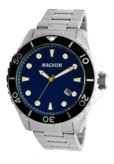 Relógio Magnum Masculino Prata - Ma35011f