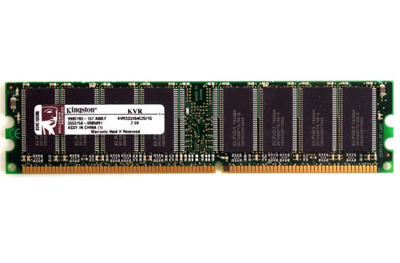 Memoria Pc Kingston 1gb Ddr 333mhz Pc2700 Nuevas Blister