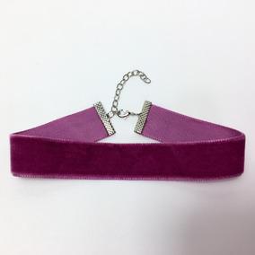 Gargantilha Choker Veludo 2,5 Cm Púrpura Alta Qualidade