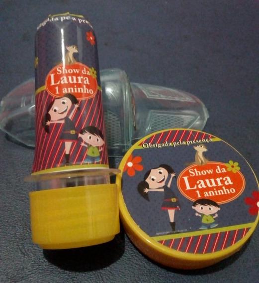 120 Adesivo Personalizado Lembrancin Tubete Caixinha Latinha