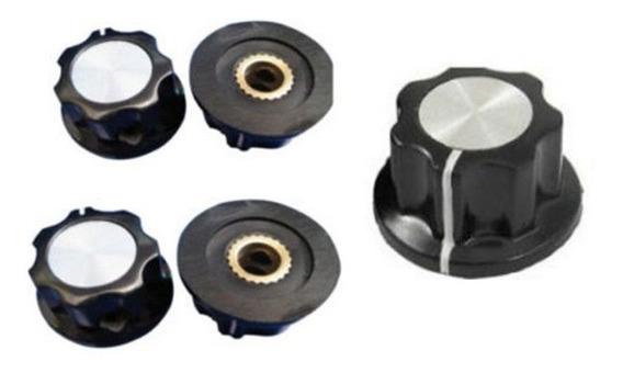 4 Uni Knob Botão Eixo Metálico Potenciometro Mfa01