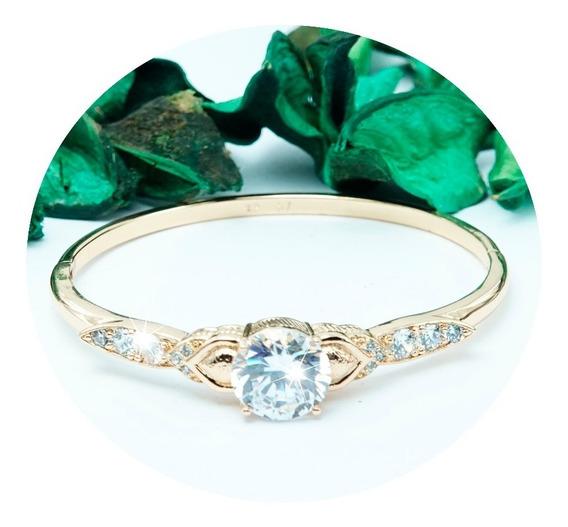 Pulseras Oro 18k Diamante Brazalete Zirconia Joyeria Regalo