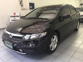 New Civic Lxs Flex 2008 Preto Automatico Couro Com 86.000km