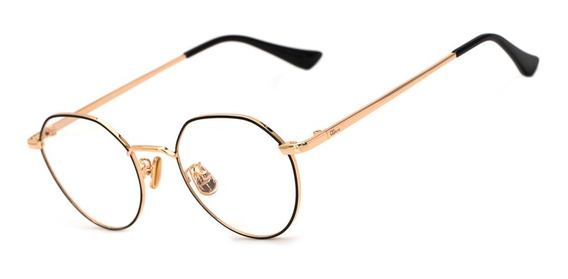 Armação Oculos Ogrife Og 1793-c Feminino Metal Redondo Retrô