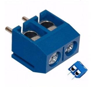 Borne Conector Kre 2 Vias Kf301-2t 5,08mm Mini Kf301-2p