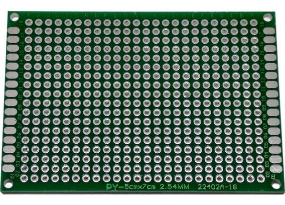 Placa De Desenvolvimento Perfurada Dupla Face Para Arduíno 50mm X 70mm