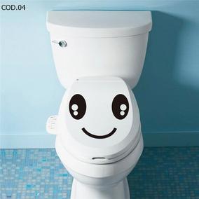 Adesivo Para Banheiro Carinha Feliz Vaso Sanitario Privada
