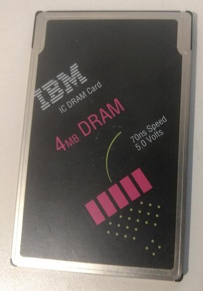 Cartao Pcmcia Ibm Ic Dram Card 4mb - Origem Canada