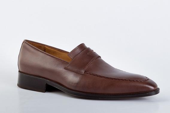 Zapatos De Vestir De Cuero Marrón Para Hombres