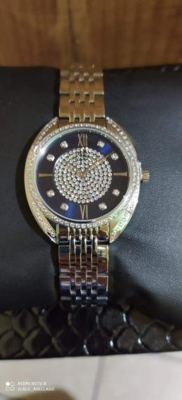 Reloj Roberto Bianci Plata Para Dama, Pedrería, Original