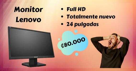 Monitor Lenovo 24 Pulgadas Nuevo A Precio De Regalo!!!!
