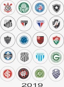 20 Botons Botton Times Brasileirão Escudos-bandeira País 3,5