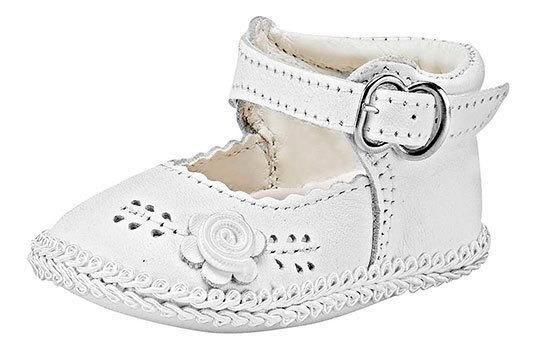 Zapato Bebe Niña Pk 51316 Piel Kids Sofi Blanco