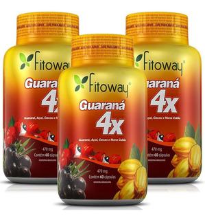 Guaraná 4x - Fitoway - 3x60 Cápsulas