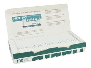 Caja De 100 Tubos Filtros Gizeh Menthol Llenar Cigarrillos