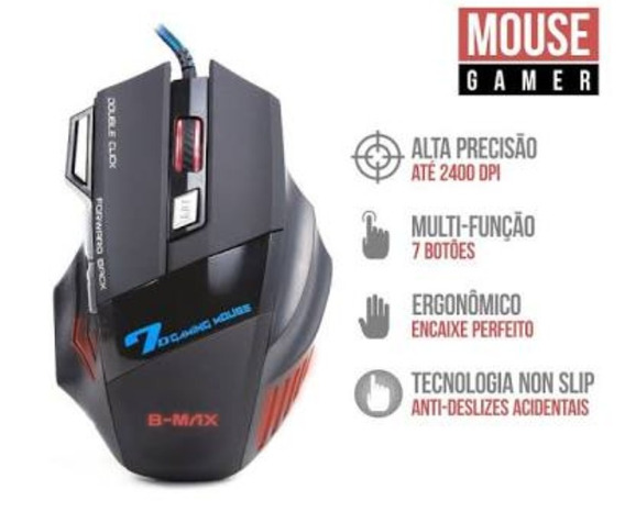 Mouse Video Games X7 Multi-funçoes Com 7 Botões Lançamento.