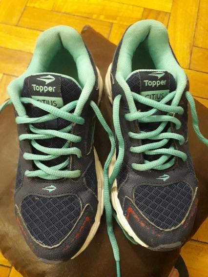 Zapatillas Topper De Mujer Talle 34 Perfecto Estado