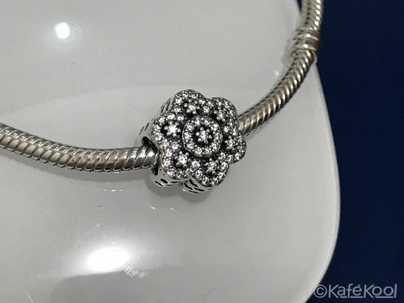 Charm Crystallized Floral Compatible Pandora Plata 925