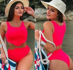 Body Feminino Recortado Argola Com Bojo Neon + Brinde42