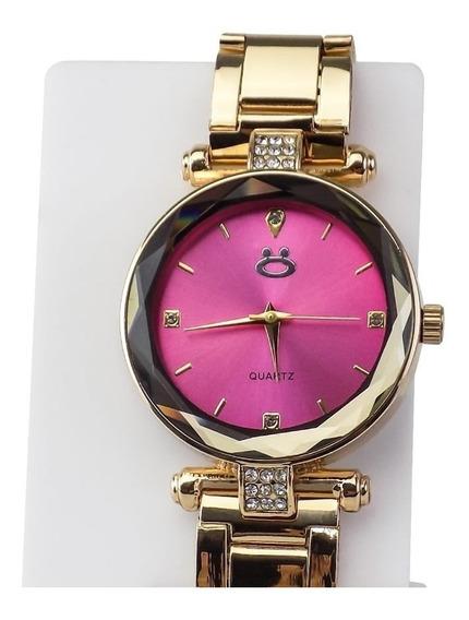 Relógio Feminino 100% Aço Qualidade + Colar E Brincos