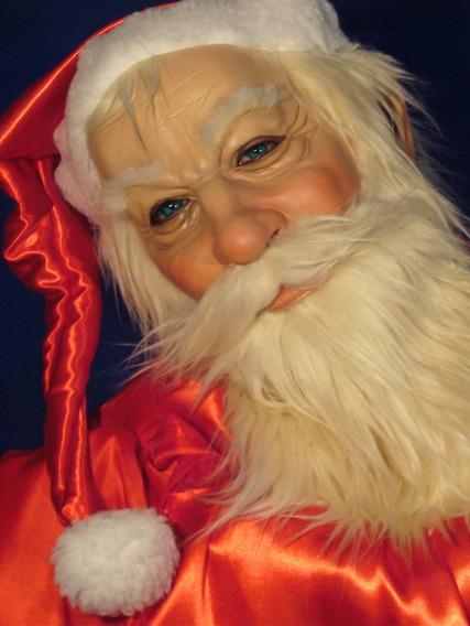 Papa Noel Media Máscara Navidad Disfraz Halloween