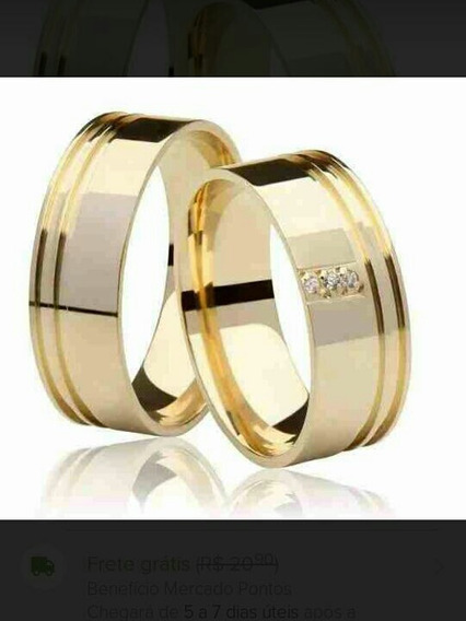 Aliança De Casamento (banhada A Ouro 18k)