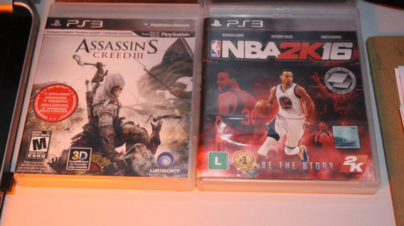 Assassins Creed Iii Ps3 + Nba 2k 16 + Fórmula 1 2014