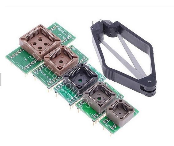 Kit Adaptador Plcc20 28 32 32 Plcc44 Ic Extrator