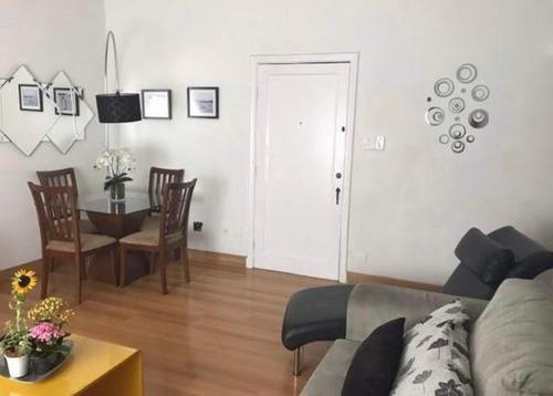 Apartamento Com 3 Dormitórios À Venda, 110 M² Por R$ 435.000,00 - Campo Grande - Santos/sp - Ap5966