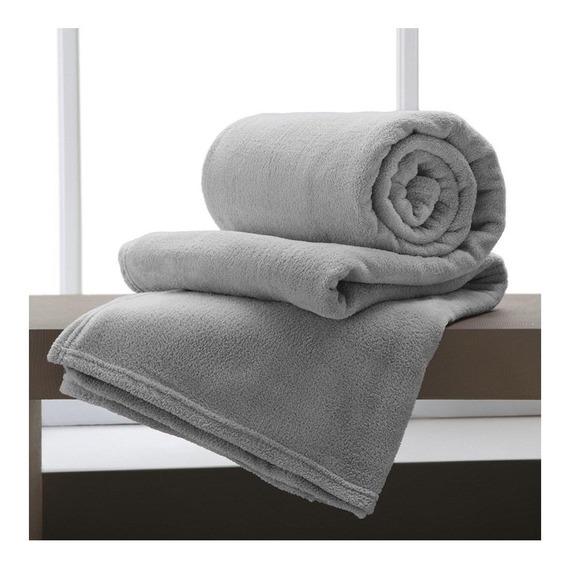 Cobertor Corttex Home Design Casal cinza ii liso