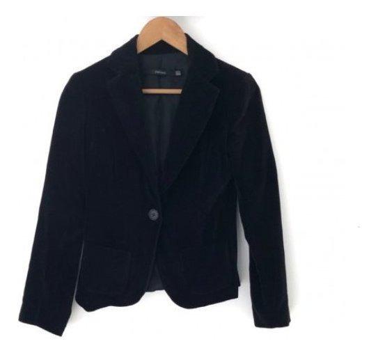 Blazer Negro Marca Zara - Terciopelo - Talle S