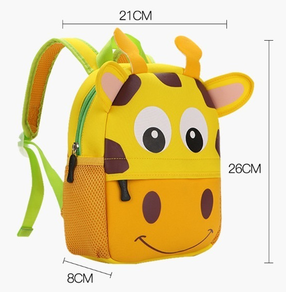 Mochila Jardin Animales Zoo Vaca, Bag Kids